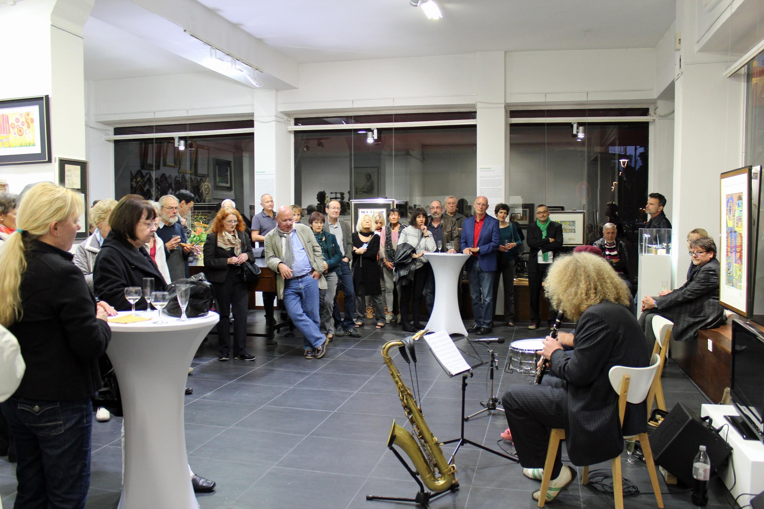 Ausstellungseröffnung Hundertwasser mit dem Ditzner Lömsch Duo. Impressionen hier!
